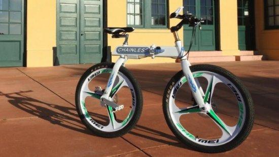 Велосипедът хвърля веригата си - видео