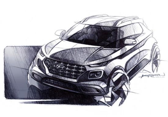 Снимка: Първи скици на новия SUV на Hyundai