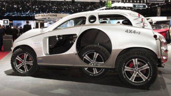 Дизайнерското ателие Sbarro реши да изпъкне сред масата експонати на автосалона