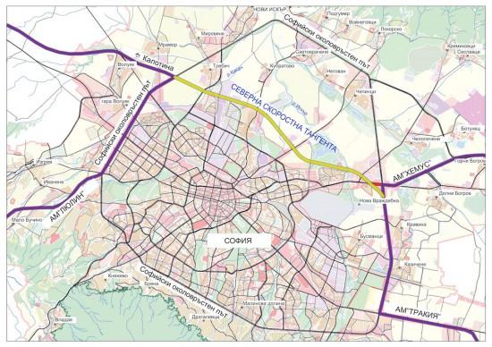За 115 км пътни участъци около София, включително Софийския околовръстен път и