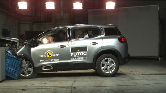 Снимка: Citroën C5 Aircross и Range Rover Evoque с върхова безопасност