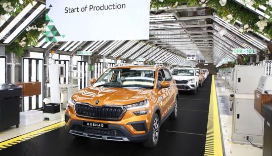 SKODA Auto обяви, че производството на новия SUV модел KUSHAQ, който