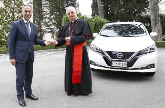 Европейското подразделение на Nissan обяви, че компанията ще подпомогне инициативата на Ватикана