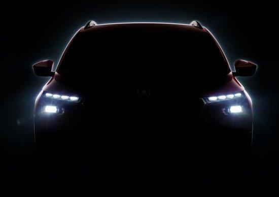 Днес SKODA разпространи първото изображение на ново попълнение в SUV гамата си-