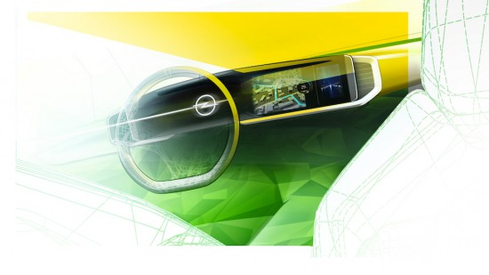 Днес Opel разпространи първата скица на интериора на изцяло новото поколение