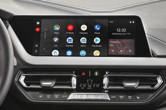 Снимка: Android Auto дебютира в BMW с безжична интеграция през 2020