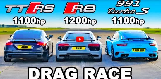 Принципно погледнато, една драг битка между Audi TT RS, R8 и