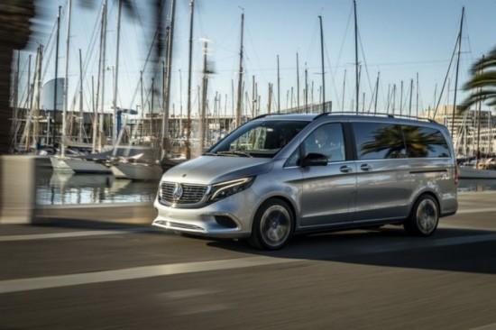 Първият електрически ван в пазарния премиум сегмент - Mercedes-Benz Concept EQV