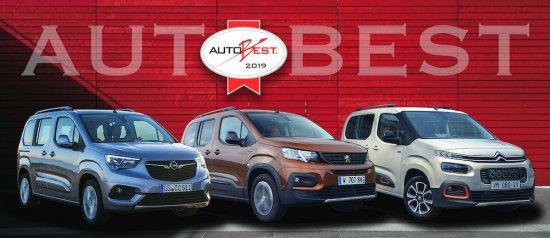 Новите Citroën Berlingo, Opel Combo Life и Peugeot Rifter са победителите