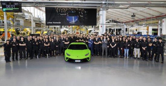 Четири години след началото на сглобяването на модела Huracan, Lamborghini отбеляза производството