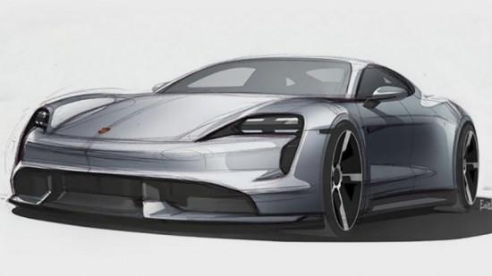 Porsche публикува първите официални дизайн скици на първия си сериен електрически автомобил