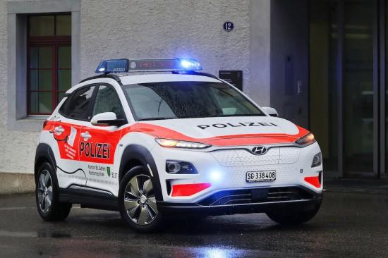 Кантоналната полиция на Санкт Гален, Швейцария, е получила 13 изцяло електрически Hyundai